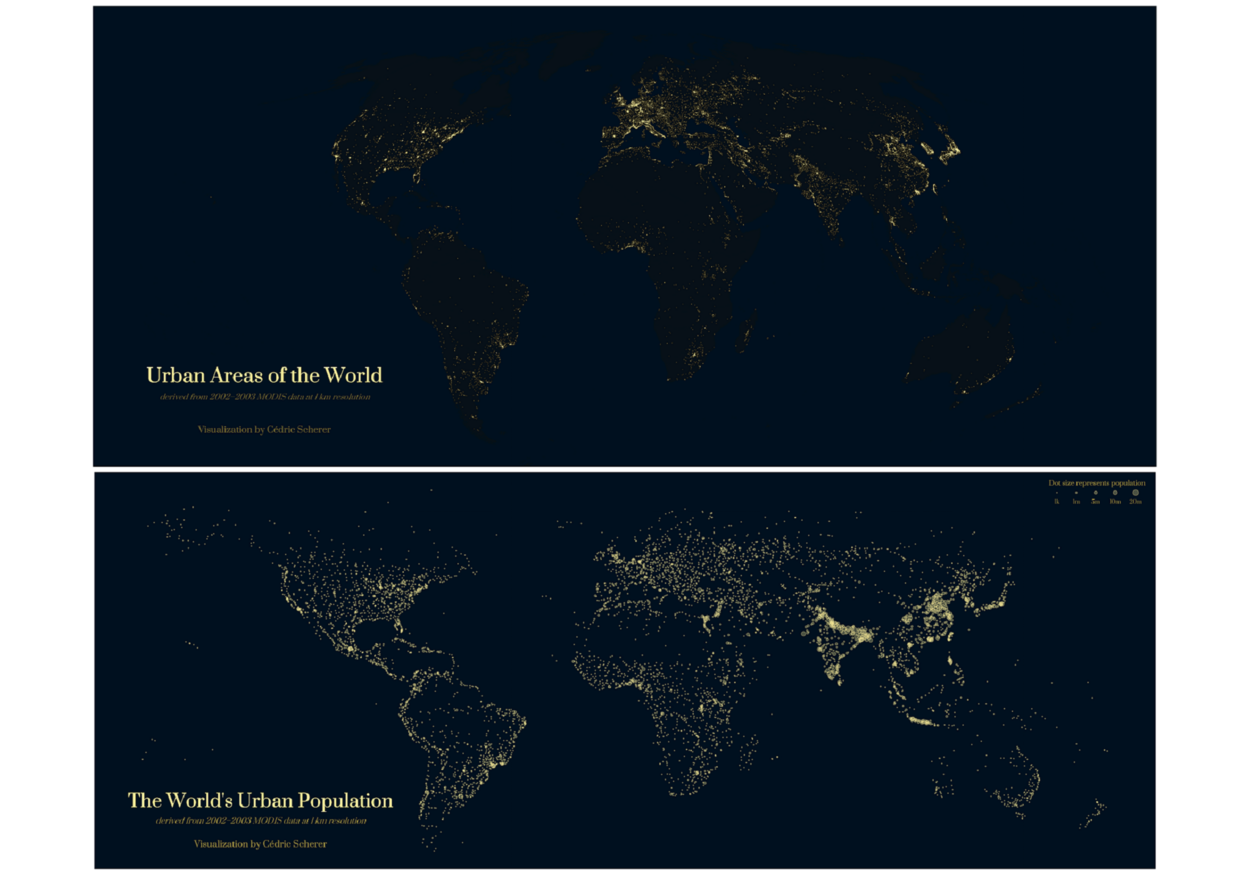 Urban Areas & Population of the World