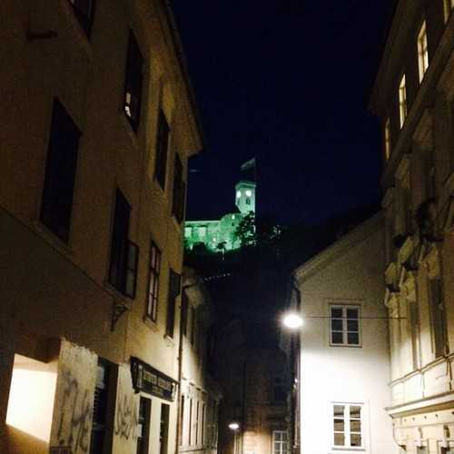 Ljubljana Castle at night
