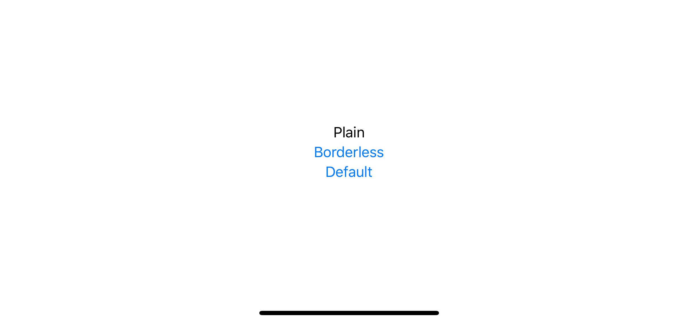 iOS button styles