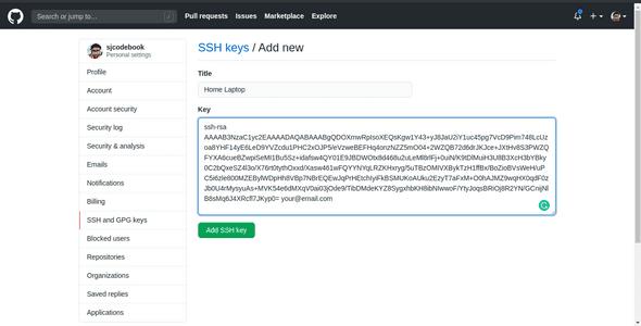 Add Public SSH Key