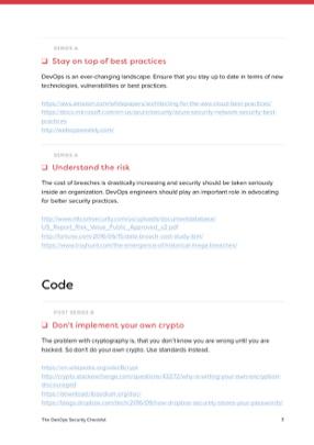 The DevOps Security Checklist Checklist page 3