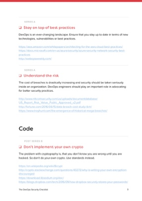 The DevOps Security Checklist Checklist page 3