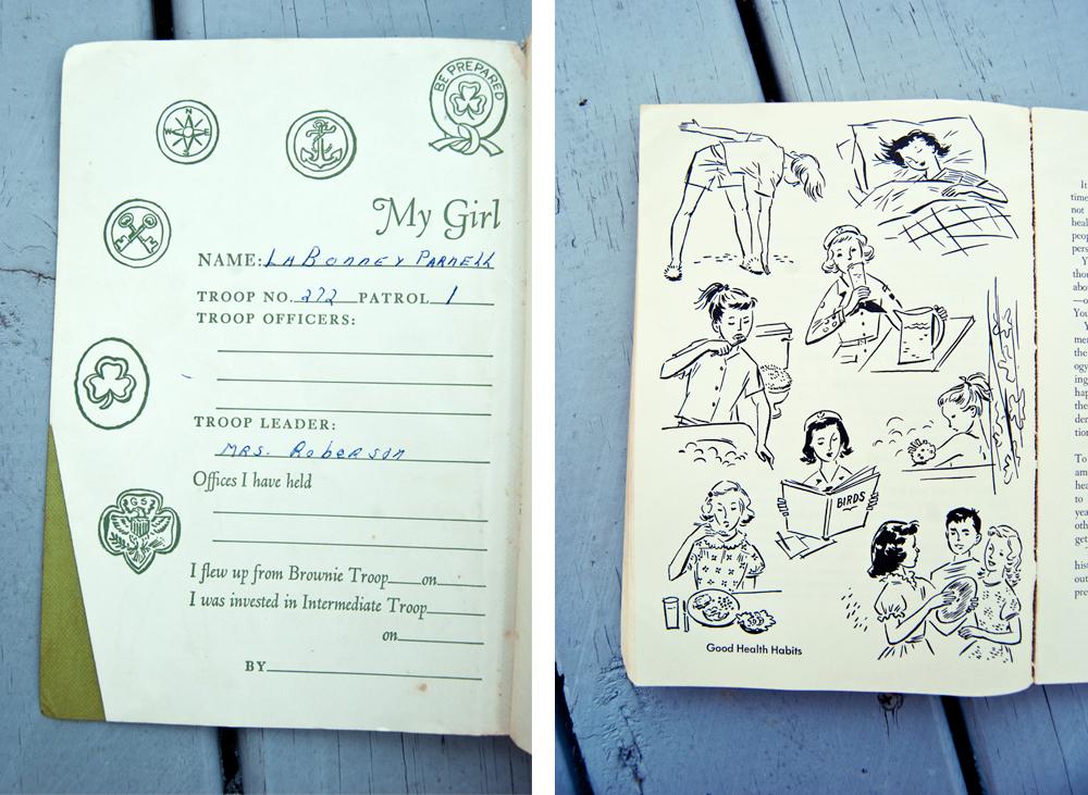Girl Scout Handbook interior