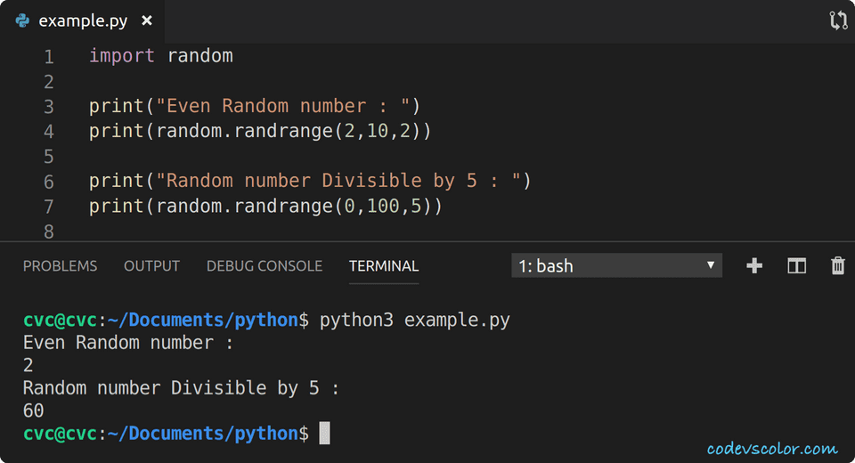 python print even number in range