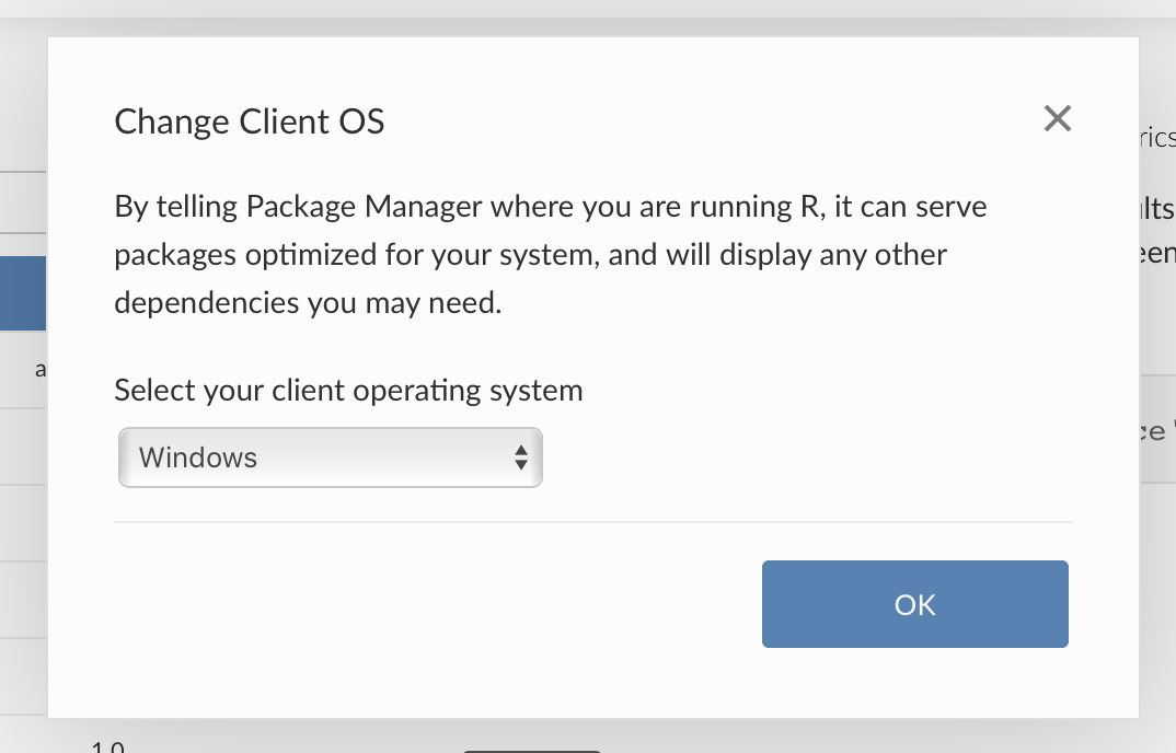Pick Windows OS as client