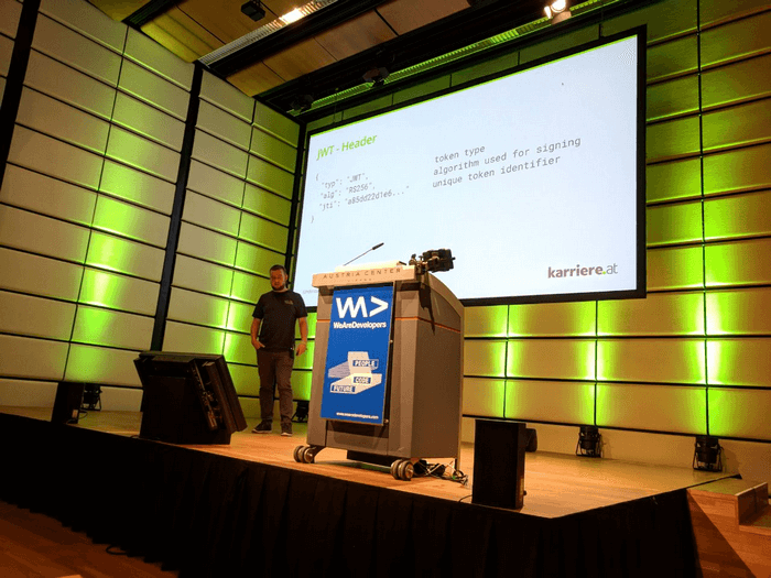 Johannes @ We are Developers World Congress 2018