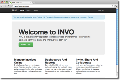 Invo Application
