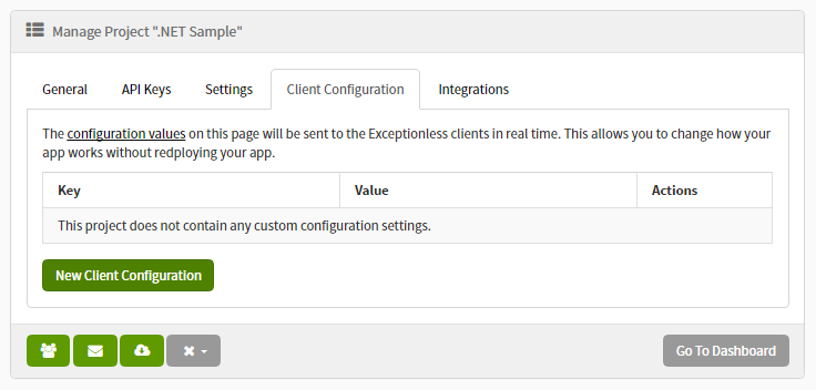 Exceptionless Client Configuration Value