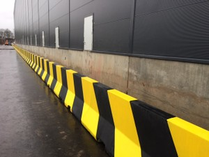 Jersey Barriers Installed