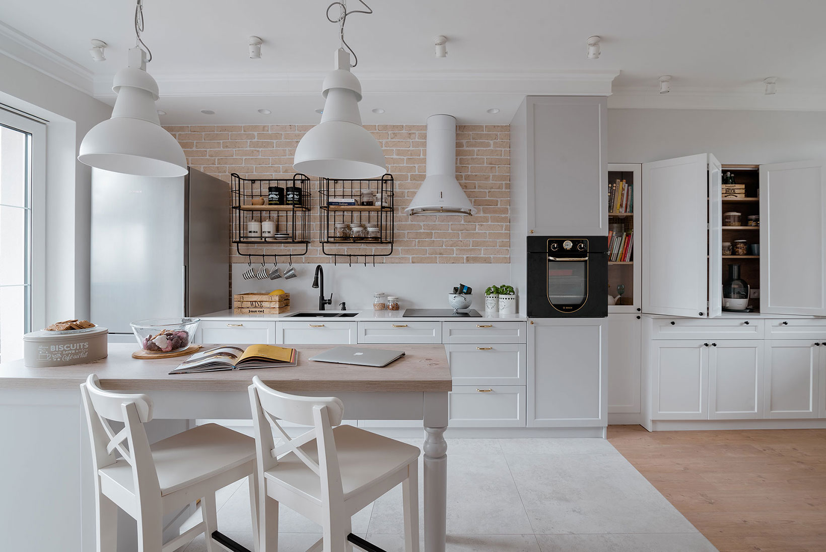 Projekt kuchni i jadalni, dom w Morągu, Vprojekt