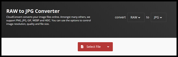 Click on Select File