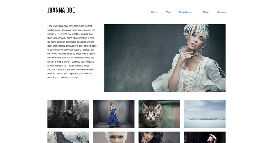 portfolio theme Hatch