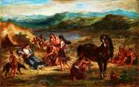 Ovid among the Scythians, by Eugene Delacroix in 1862, Metropolitan Museum of Art, New York City