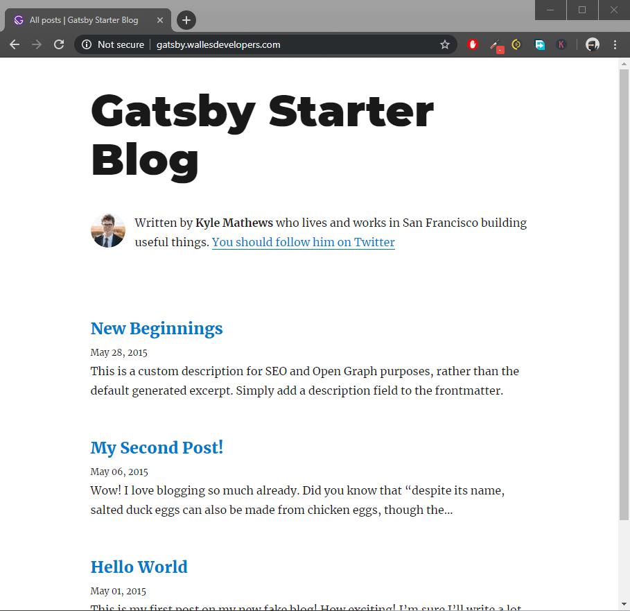 Gatsby Blog Live Deploy