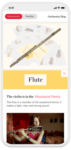Orchestra Map mobile