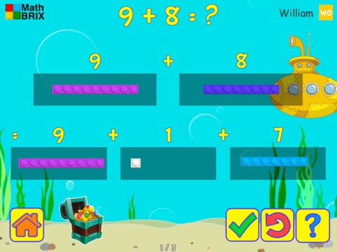 Add and subtract within 20 (decomposing numbers leading to a ten) Math Game