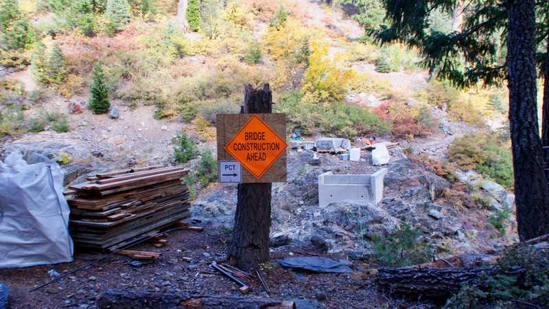 The site a bridge construction