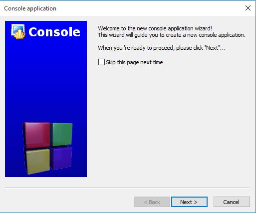 Code::Blocks 歡迎訊息