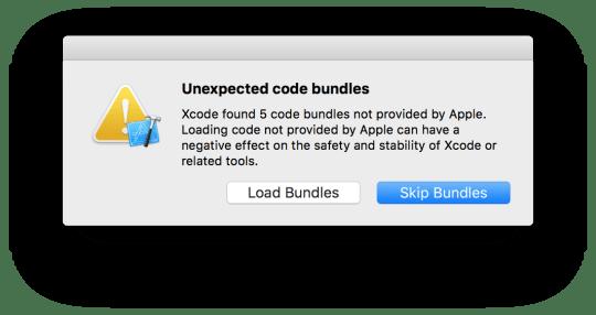 Xcode alert