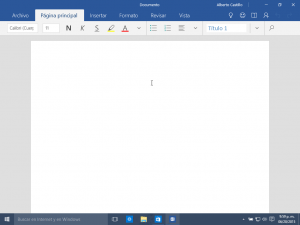 Word Windows 10