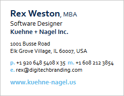 Kuehne + Nagel Reply Email Signature