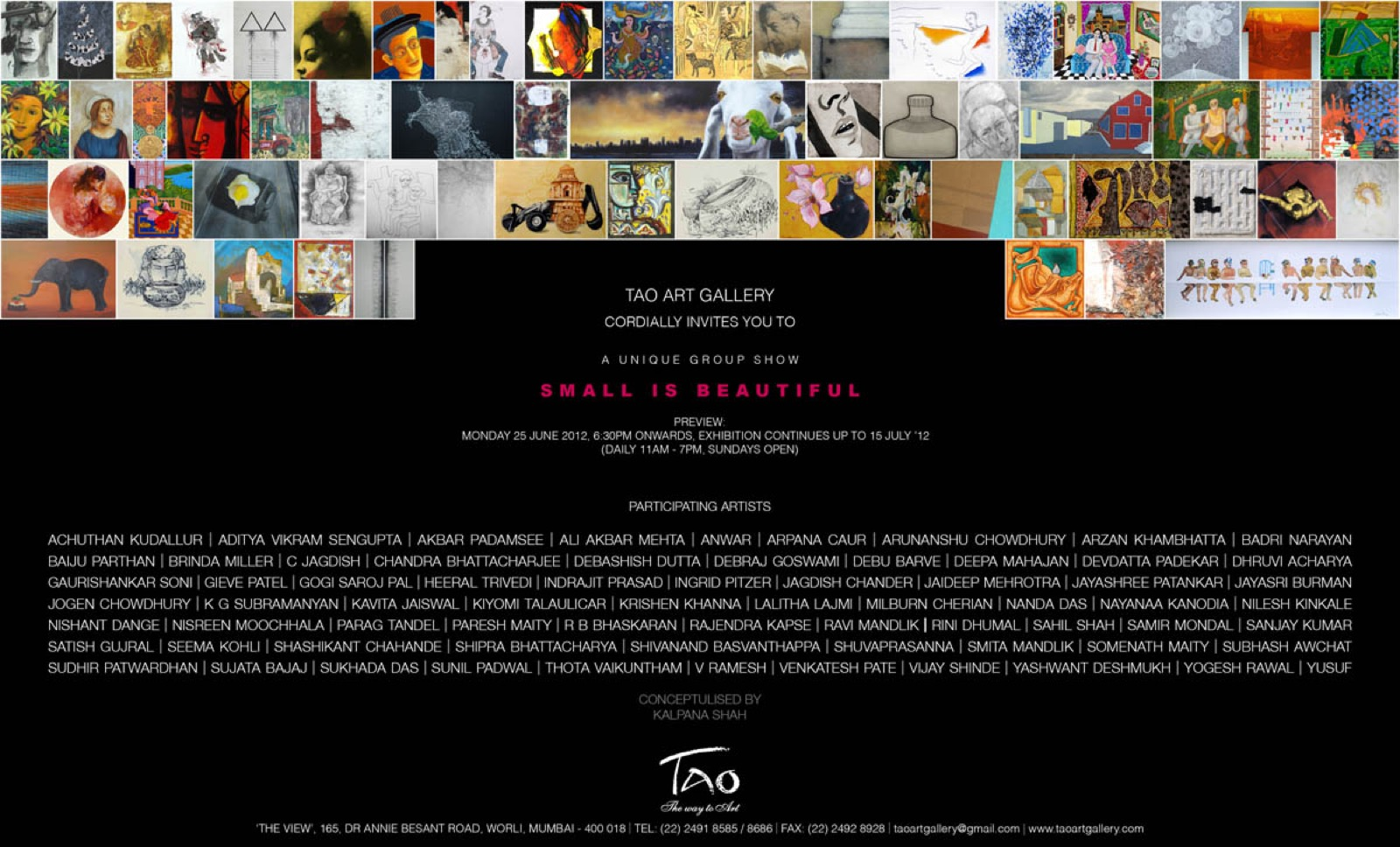 Small is Beautiful, Invite, 2012