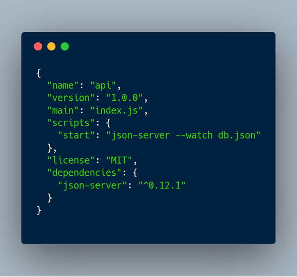 Package.json Inicial