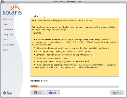New Solaris Installer