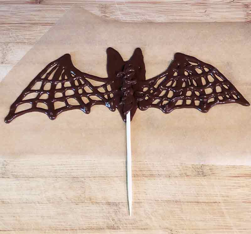 drawing vegan chocolate bats