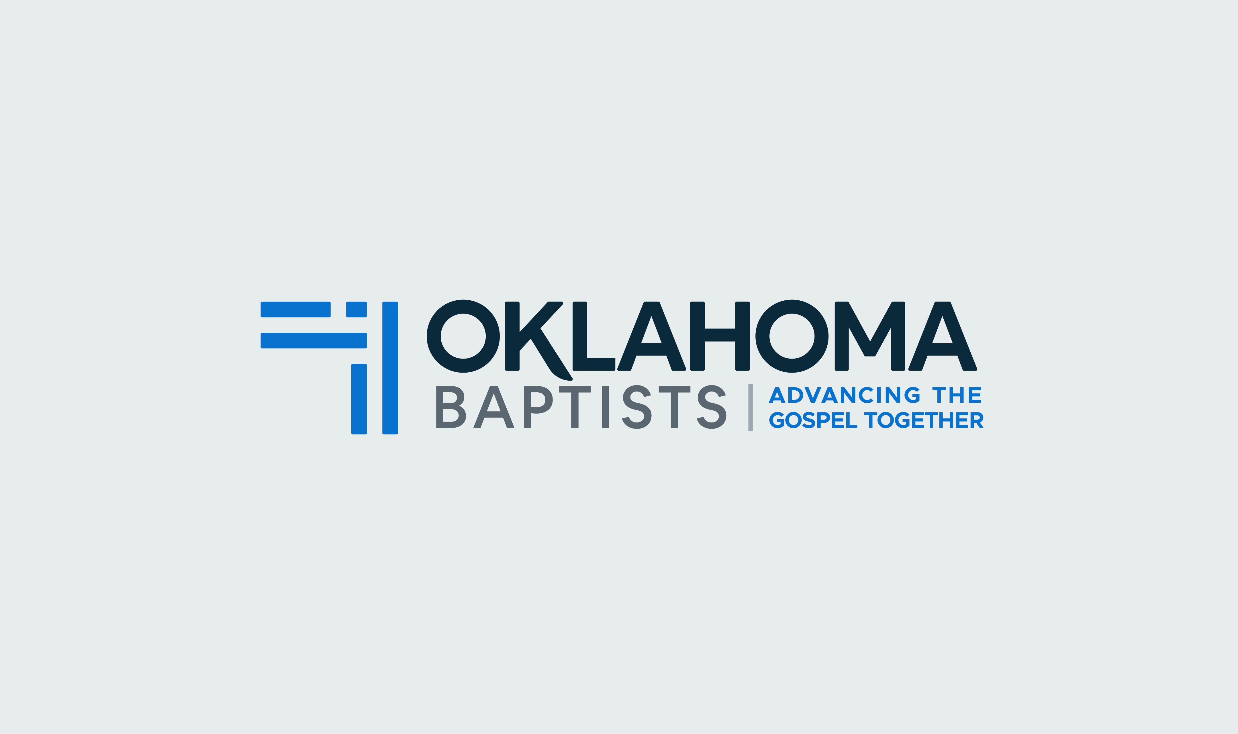 A version of the Oklahoma Baptists logo with the tagline 'Advancing the Gospel together'