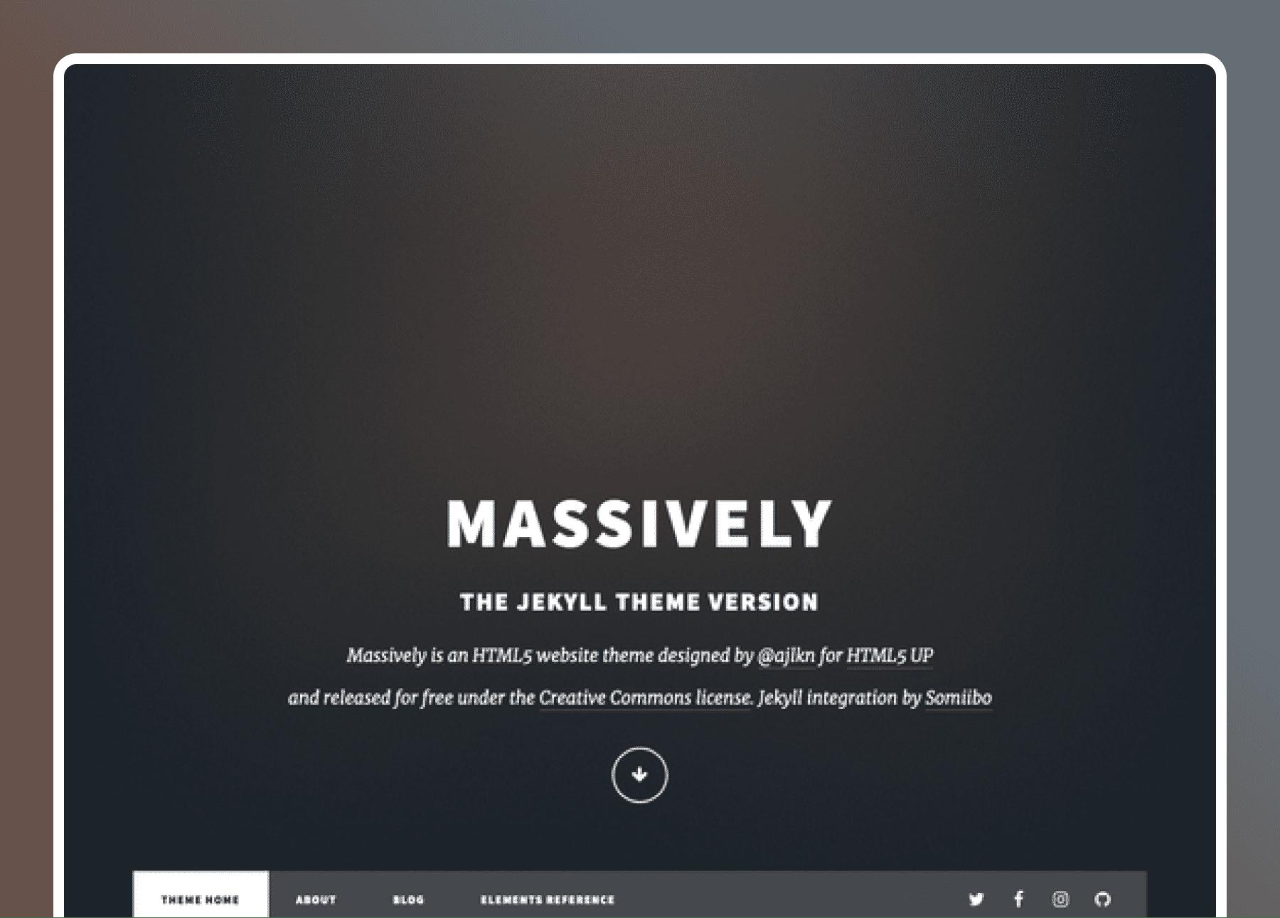 Jekyll Massively- cover