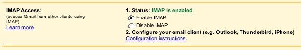Gmail Gets IMAP