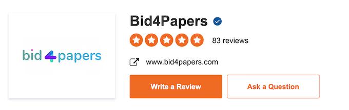 bid4papers.com rating on sitejabber