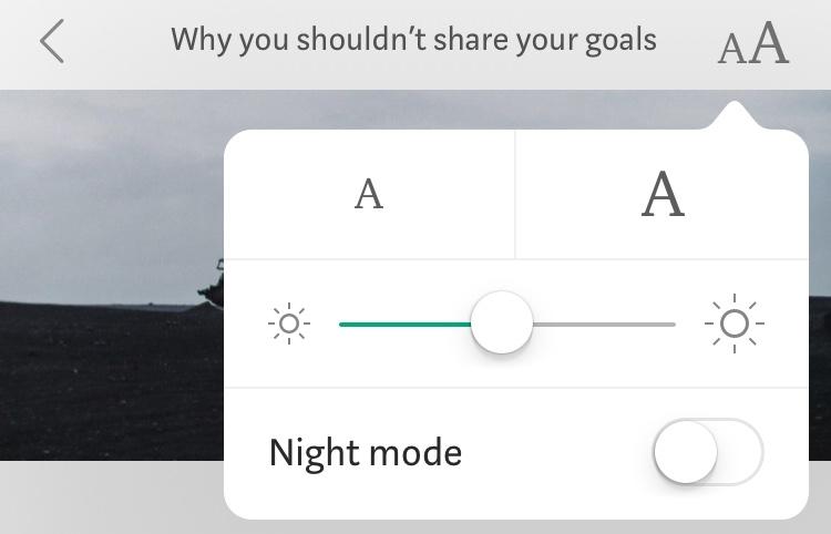 Screenshot of the Medium Theme Switcher