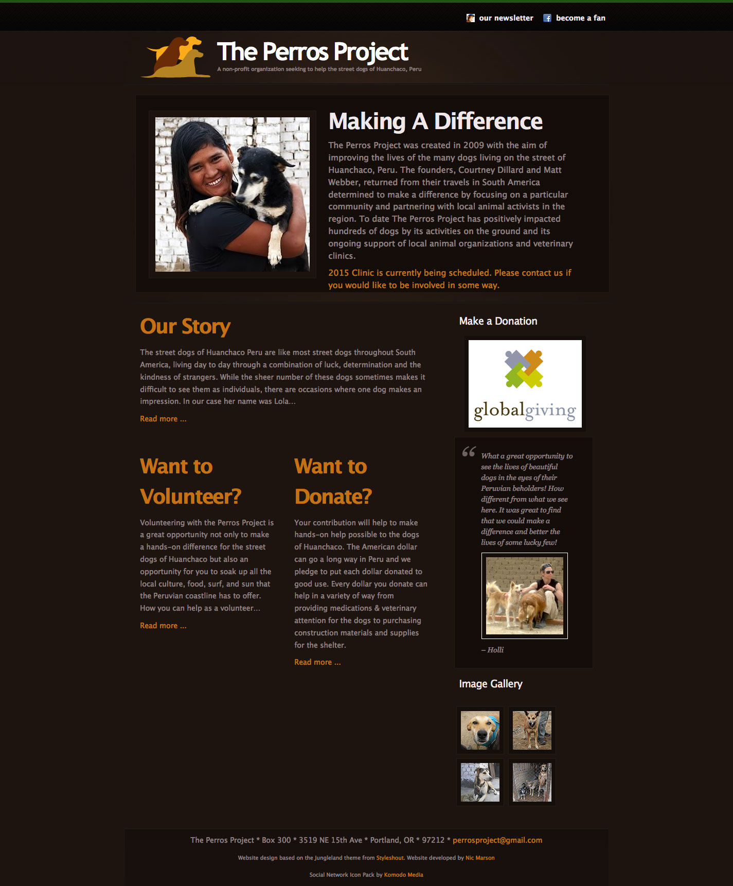 Perros Project home page