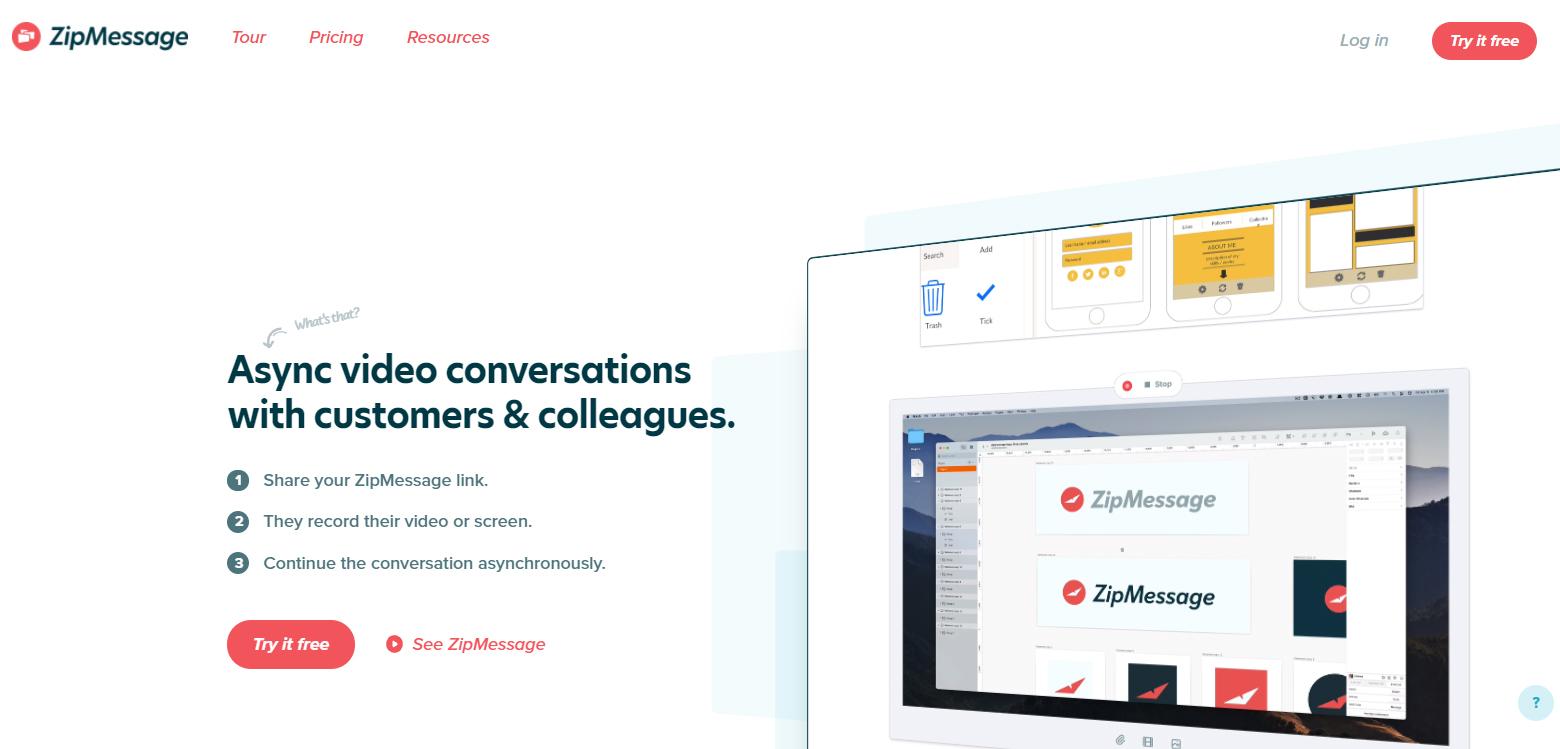 User Onboarding Software: ZipMessage screenshot