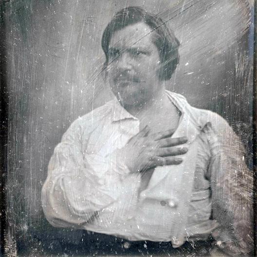 Оноре деБальзак, дагерротип Луи-Огюста Биссона, 1842год