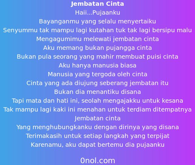 Puisi Cinta Romantis Kata Kata So Sweet Buat Pacar Tersayang Panjang