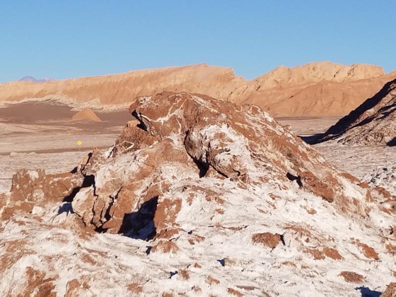 Valle de la Luna with its salty crust
