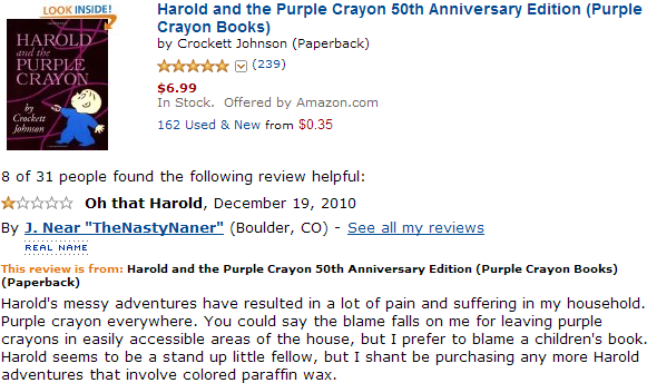 Harold and the Purple Crown book review