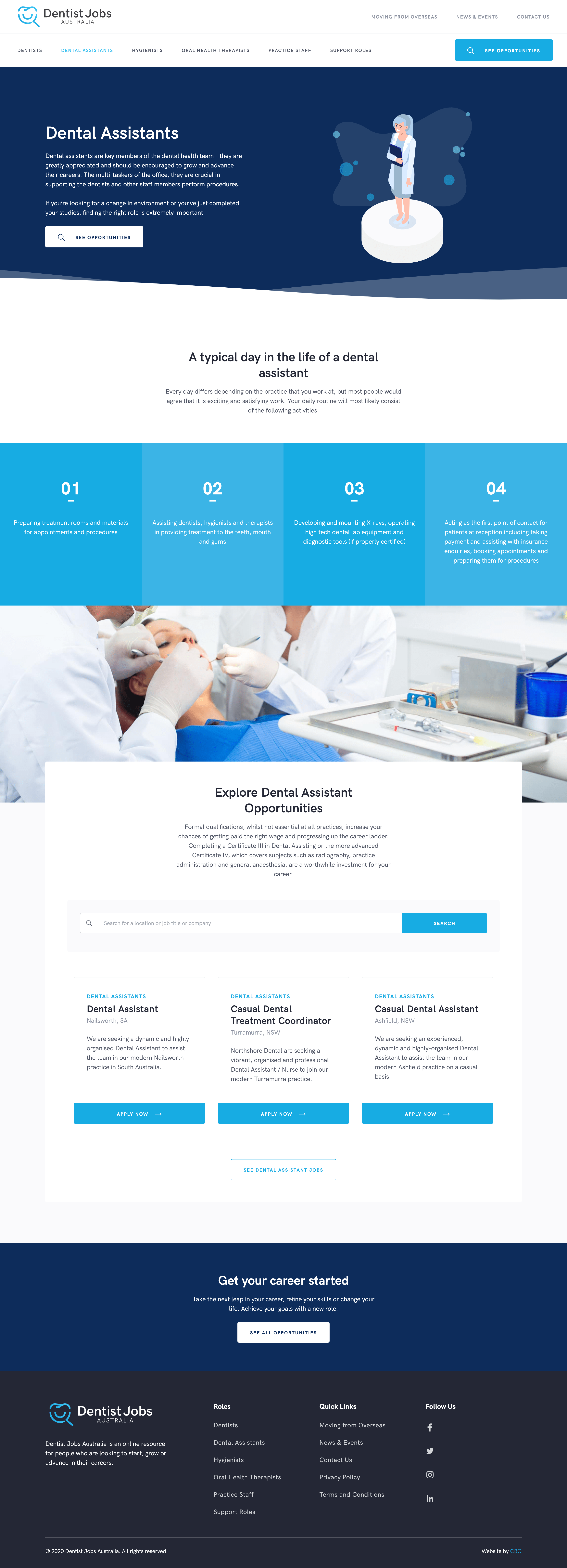 Dental Assistant Page