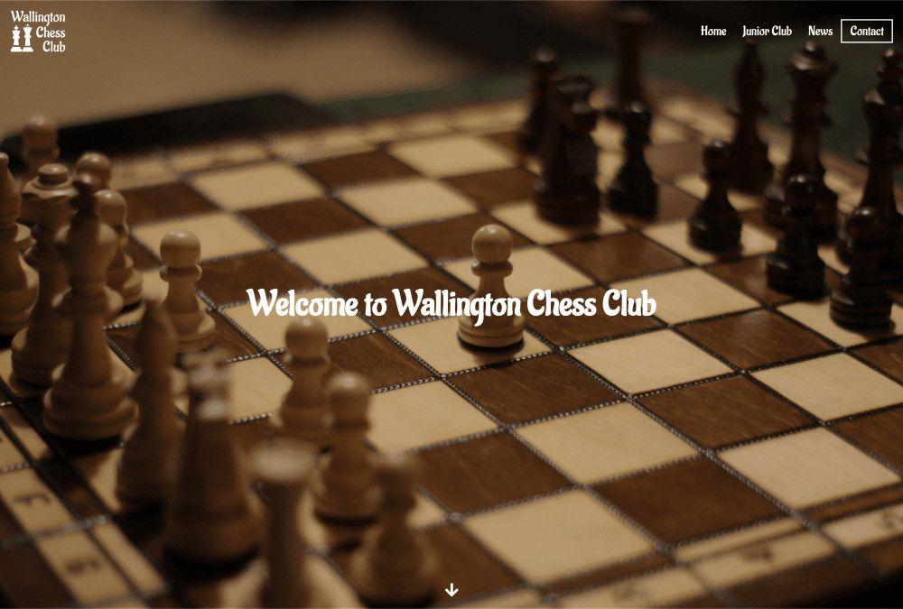 Image of Wallington Chess Club website.