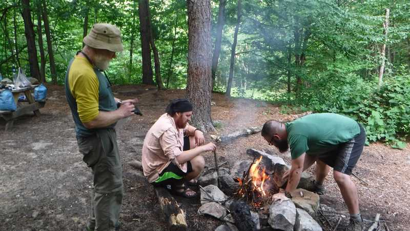 Campfire at Rocky Mountain Shelters