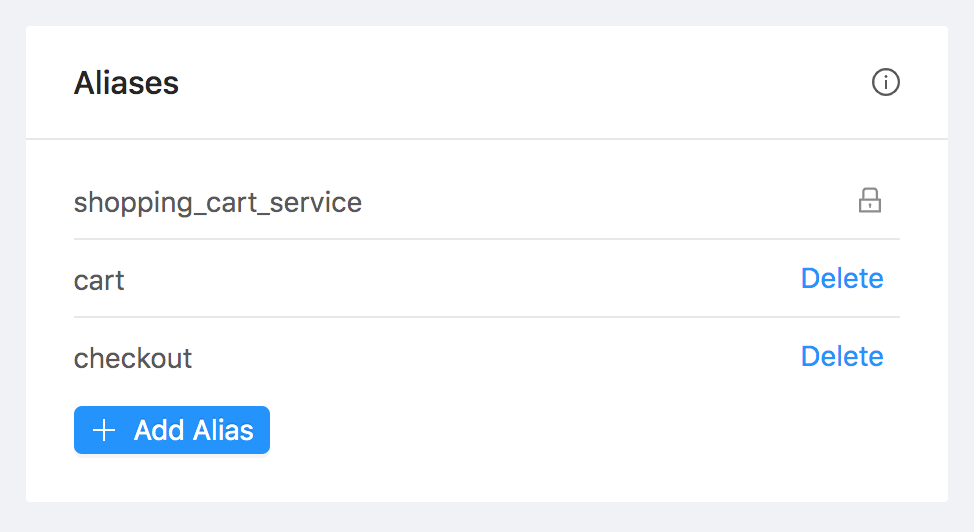 Service Aliases