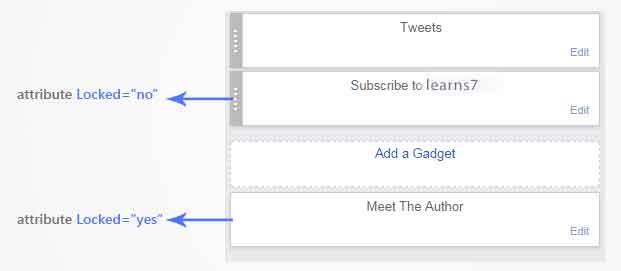 locked widget in Blogger layout