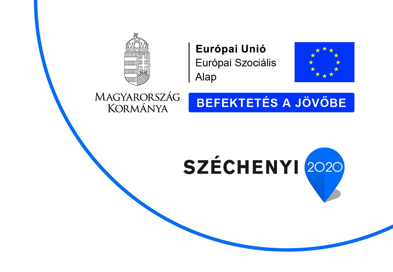 Széchenyi 2020 - Magyarország Kormánya - Európai Unió - Európai Szociális Alap - Befektetés a jövőbe