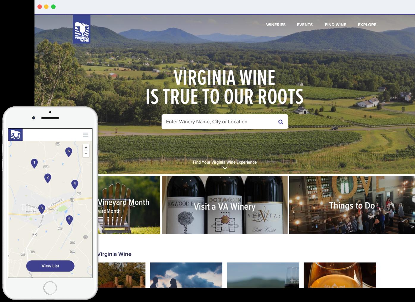 Virginia Wine Homepage