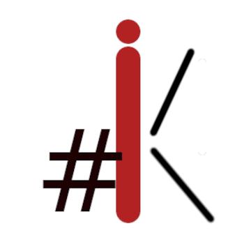 Een zwarte hastagh met de rode leters IK | advies en ondersteuning in social selling aan mkb
