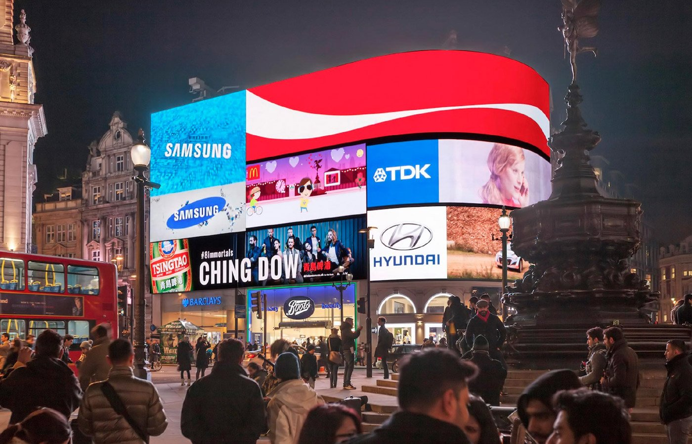 The ad in Piccadilly Circus