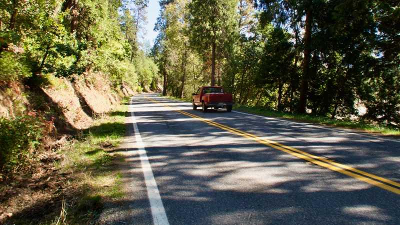 Walking on California Highway 96